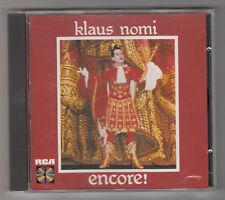 *** Klaus Nomi _ Encore ! *** Album CD audio - 1984