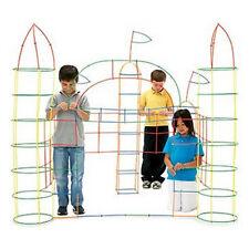 100Pcs Kids Straws Multicolour Construction Building Blocks Educational Toys