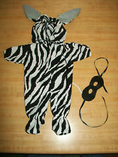 CPK Cabbage Patch Kids ZEBRA HALLOWEEN COSTUME OUTFIT SUIT W/ EARS  TAIL + MASK