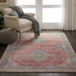 "Nourison Ankara Global Traditional Floral Rug ANR01 160x229cm 5'2""x7'6"" Large"