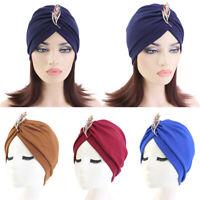 Women Hair Loss Scarf Cancer Soft Cap Muslim Turban Hat Hijab Head Wrap Hats New