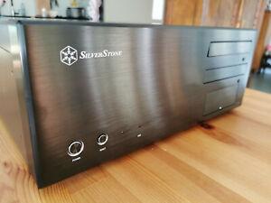 Silverstone LC17-B Black PC-Gehäuse Case ATX Rack für HTPC *Top*