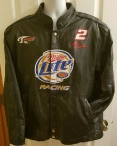Chase Rusty Wallace Miller Lite 2 1984-2005 Rusty's Last Call Leather Jacket XL