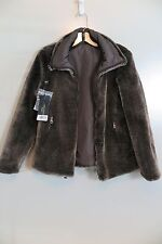 NWT Max Mara Weekend Nebbie Reversible Faux Fur/Nylon Coat Size 2 MSRP $725