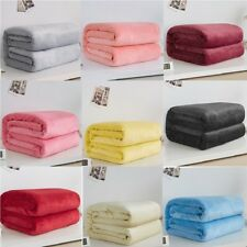 Super/Soft Blanket Plush Mink Fleece Full Queen Bed Sofa Throw Baby Blanket Cool