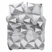 100% Cotton Duvet Cover Set Geometric Print Bedding 200TC Double King Super King