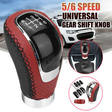 5/6 Speed Universal Manual Car Gear Shift Knob Shifter Lever Stick Red&Black