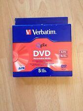 Verbatim DvD Recordable Media 4.7GB 5 Pack Qflix 8x Speed