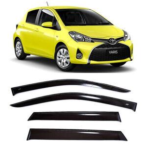 For Toyota Yaris/Vitz Hb 2011- Window Visors Side Sun Rain Guard Vent Deflectors