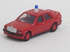 Mercedes-Benz 190 E 2,3-16 Feuerwehr in rot, ohne OVP, Herpa, 1:87, Umbau