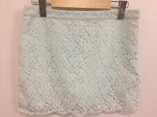 Aritzia TALULA Women's Size 4 Mini Skirt Lace Light Blue Mint Green Floral