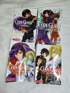 Code Geass Lelouch of the Rebellion Vol. 1-4 Manga Books English Bandai USED