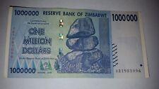 ZIMBABWE 1 MILLION DOLLARS 2008 P 77 CIRCULATED USED SERIES 100 TRILLION