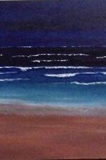 Original PaintIng By The Sea 2 June Sharp 91.4cm x 91.4 cm Mixed Medium Varnish