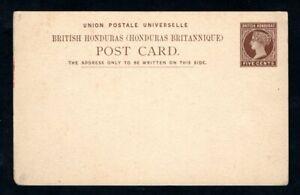 British Honduras - 1889 5c Brown Prepaid Postcard - Higgins & Gage #3 - Unused