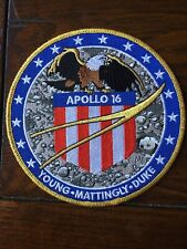 """Apollo 16 Mission Patch 5"""" Signed Charlie Duke"""