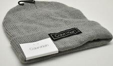 Calvin Klein Men's Beanie Knit Hat Grey New! NWT