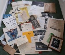 VINTAGE LGE COLLECTION OF OPERA PROGRAMMES, LEAFLETS, PICTURES, CUTTINGS LETTERS