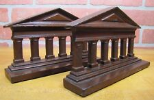 Antique Cast Iron Cjo Judd Colliseum Bookends Decorative Art Statues Doorstops
