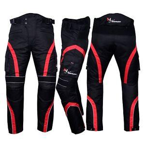 Motorbike Motorcycle Waterproof Cordura Textile Trousers Pants Armours 5 Colours