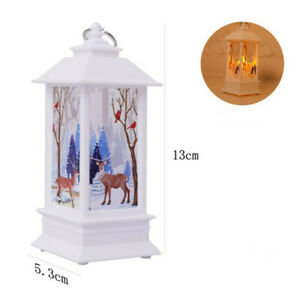 Christmas LED Light Lamp Xmas Tree Candle Glowing Reindeer Home Party Decoration