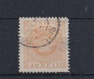 PORTUGUESE India (9c221) SG 81 - 1880 40 Reis Yellow - Superb used - Perf 13.5