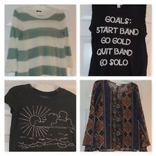 JUNIOR WOMENS Clothes XS-Small T-shirt Top Banana Rep, Abercrombie, J Crew+