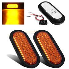2x Universal LED Seitenmarkierung Auto Beleuchtung Rücklicht Rückleuchten Gelb