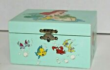 """Vintage Disney The Little Mermaid Music Jewelry Box """"When You Wish Upon A Star"""""""