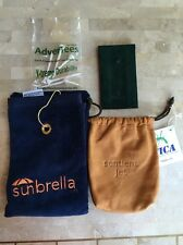 ROLEX GREEN POUCH, SUNBRELLA TOWEL,TEES & LEATHER POUCH 4 NEW GOLF ACCESSORIES