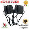 LOT OF 2 MED-PAT D-2200 2 Can Talk 2 Dual Handset Conference Phone