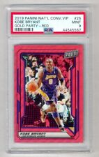 KOBE BRYANT 2019-20 PANINI NATIONAL VIP PARTY RED PRIZM #7/25 LAKERS PSA 9 MINT