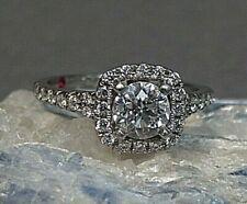 White Gold size 5.25 Diamond Halo Engagement Ring 14k