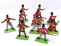 Vintage BRITAINS NAPOLEONIC DEETAIL. BRITISH Waterloo Infantry x 10.