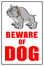 "*Aluminum* Beware Of Dog 8""x12"" Metal Novelty Sign  NS 013"
