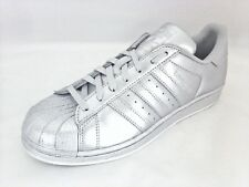 Women's Adidas Originals Superstar Metallic Siver Sneakers [BB8139/Choose Size]