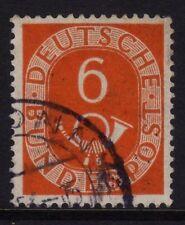 W Germany 1951 Posthorn 6pf Naranja SG 1048 Fu