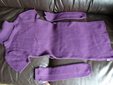 PJE Edition Girls Dress Plum Knitted  EU 146  - Designer Children's Clothing.