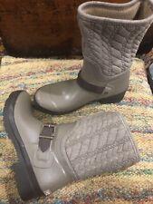 Sperry Top Sider Waterproof Rain Snow Harness Duck Boots Women's 6 Taupe Wool