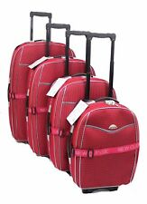 SET OF 4 SUITCASES LIGHTWEIGHT WHEEL SUITCASE TROLLEY CASE TRAVEL LUGGAGE RED
