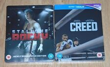 Rocky / Creed (2 blu-rays) Steelbook. NEW & SEALED - UK release