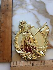 Golf Bag, Clubs, & Visor -Flat Gold Plastic Trophy Topper/Placque