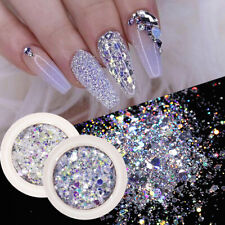 8 Boxes/Set Nail Glitter Sequins Flakes Sparkly 3D Hexagon Nail Art Decoration
