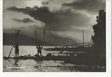 80358 PLACIDO TRAMONTO LARIANO LAGO DI  COMO PERSONE CON REMI 1944