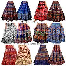 Wholesale lots Indian Cotton Rapron Mandala Floral Long Skirt Wrap Around Hippie