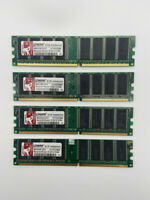 4GB 4X 1GB DDR1 400MHz PC-3200 Pour Kingston Desktop Mémoire DIMM RAM 184Pin Lot
