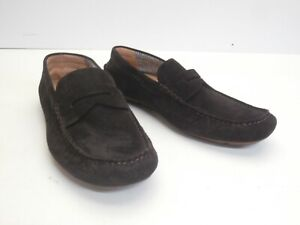 Mens Armani Jeans Suede Brown Driving Slip-on Loafer - Size 9.5 UK