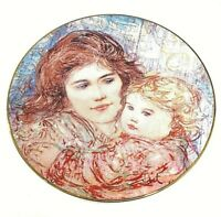 "EDNA HIBEL ""A Golden Thought"" Mother's Day 2004 Limited Edition Plate"