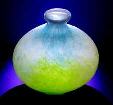 VINTAGE PIER 1 STUNNING ART GLASS VASE BLUE AND GREEN - EXCELLENT CONDITION!