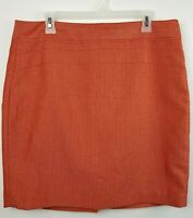 The Limited Womens SZ 12 Red Skirt Side Zip Lined Pencil Straight Above the Knee